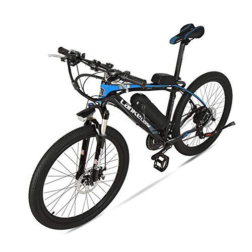 GTYW, Eléctrico, 26 Pulgadas, Aleación De Aluminio, 36V 20ah, Bicicleta, Montaña, Bicicleta, Ciclomotor Adulto,Blackandblue-36V20ah