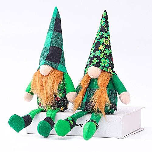 ZJJX Gnome - Peluche de San Patricio, regalo escandinavo nórdico sueco, primavera de marzo Gnome, hecho a mano para decoración del hogar