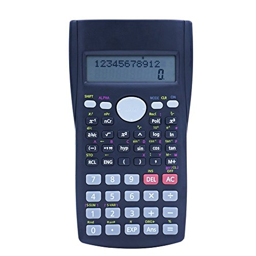 Hi-tec Calculator,Scientific Calculator 2-Line Engineering Calculator with Multi Function Counter Calculating Machine for All Students and Professionals