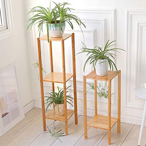 Bambou Fleur Cadre Multi-couche Creative Salon Rack Balcon Orchidée Fleur Pot Étagère Étage Fleur Stand Simple -by Virtper (Couleur : Couleur du bois, taille : 100cm)