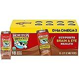 Horizon Organic Shelf-Stable 1% Lowfat Milk Boxes with DHA Omega-3, Chocolate, 8 oz., 18 Pack