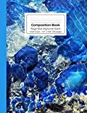 Composition Book Royal Blue Afghanite Stone Wide Ruled (Crystal Stone Mineral Composition Size Books)
