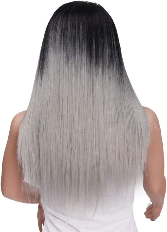 Perücke Haarteile Grenzüberschreitende Weibliche Und Weibliche Perücke Mit Farbverlauf In Der Langen, Glatten Haarperücke B07N1KFYHS Zuverlässige Leistung  | Qualitätsprodukte