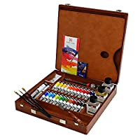 Van Gogh Oil Paint Set Artists Wooden Box Expert Order Hopptoei