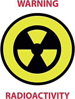 College Ruled Notebook 7x10 inch (17.78x25.40 cm) with signs biohazard and radioactivity motive 100 sheets