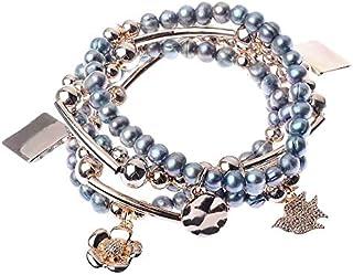 Grey Cord and Hexagon Charm Bracelet Geometric Sterling Silver Jewellery B...