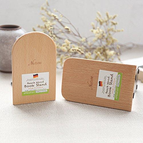 Shager Buchstützen aus Holz, Rutschfest, 8 * 13cm, Eichenfarbe, für DVD\'s Kataloge und Ordner geeignet (B)