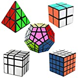 EASEHOME Speed Magic Puzzle Cube Megaminx + Pyraminx + Espejo + 2x2x2...