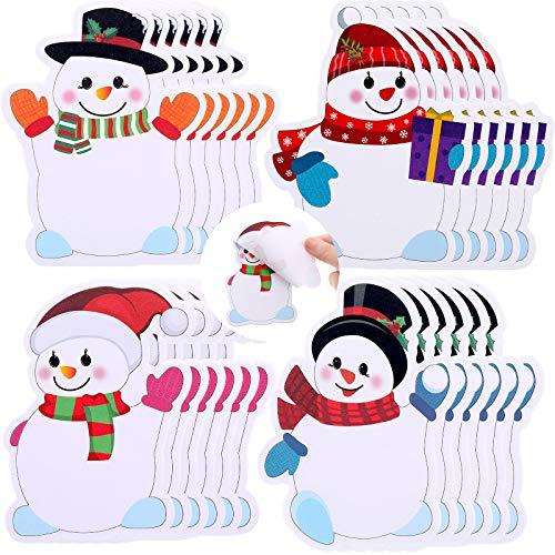 24 Blocs de Notas de Navidad Blocs de Notas de Muñeco de Nieve Agitando Notas Adhesivas de Vacaciones de Invierno Lista de Notas de Tareas Pendientes Saltando para Trabajo Estudiar Decoración