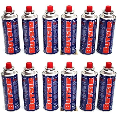 Butsir Gas de 227Gr Pack, Multicolor, 28 x Cartucho B-250 quemadores, sopletes y Otras cocinas del Mercado