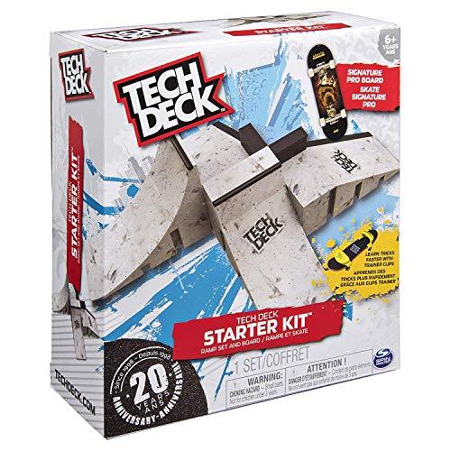 Tech Deck Starter Kit Ramp Set mit exklusiven Board und Trainer Clips, Limited edition