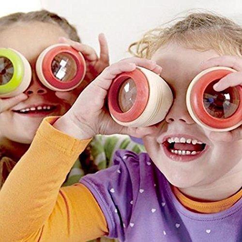 Kekailu Kaleidoscope,Best Wooden Educational Kaleidoscope Baby Children Learning Puzzle Sensory Toy