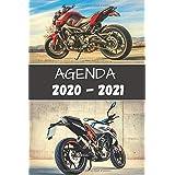Agenda 2020 - 2021: Agenda moto 2020 - 2021 standard Primaire - Collège - Lycée - Etudiant - d'août à août - avec calendrier des vacances scolaires par zones et jours fériés