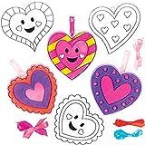 Baker Ross Decoraciones Atrapa-sueños Corazón Set para niños (paquete de 10)