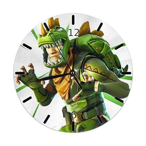 LuoYangShiLaoChengQuTianYuGangCaiXiaoShouBu FO_TNITE Ba_ttle Ro_Yale 10-Zoll-Nicht tickende hängende Uhr PVC-runde Wanduhren einfach zu lesen, batteriebetrieben für Schlafzimmer