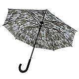 Glossy Magazine Cover Collage Michelle Obama Printed Bubble Dome Stick Rain Umbrellas (Black)