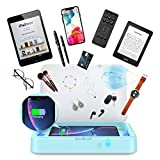 Phone Cleaner with Wireless Charger Aromatherapy Multi-Function Charging Station Large Capacity for iPhone Android Smartphones Jewelry Keys Watches