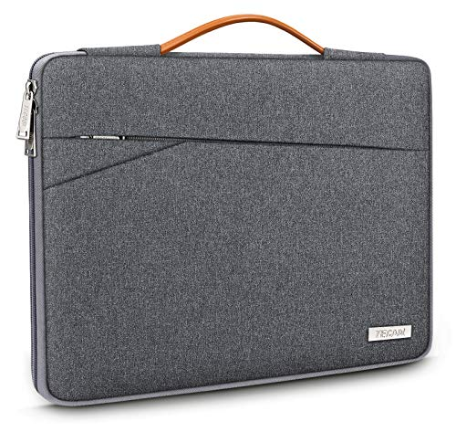 TECOOL 15 156 Zoll Laptop Hulle Tasche Notebook Aktentasche Tragetasche Stosfestes Schutzhulle mit Fronttasche fur AcerAsusDellHPHuaweiLenovoSamsung Laptops Notebooks Dunkelgrau