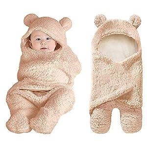 XMWEALTHY Cute Newborn Baby Boys Girls Blankets Plush Swaddle Blankets Baby Shower Gifts