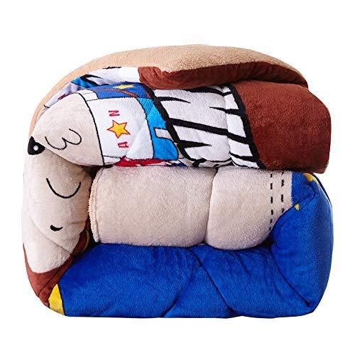 YNYKE Duvet 220x 240 Polyester Microfiber Soft Comfort Breathable Quilt Flannel Quilt Cover Berber Fleece Duvet