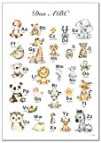 artpin® ABC Poster Kinderzimmer Alphabet Tierposter -