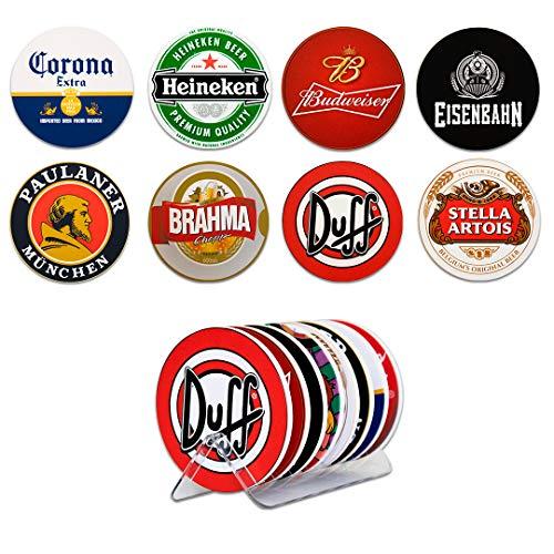 Kit 8 Bolachas Porta Copos Cervejas Em Plástico Com Suporte