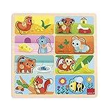 Goula - Puzzle con mi comida favorita, color naranja, rojo y verde (Diset 53041) , color/modelo surtido