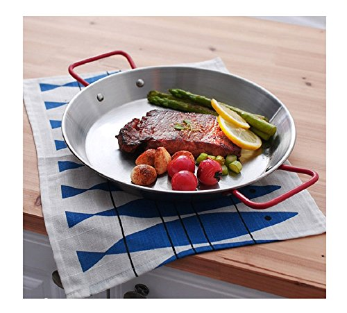 CASANI Italy Paella Pan Series 3Pcs Set - The Best Color For Food - 18cm, 20cm, 22cm