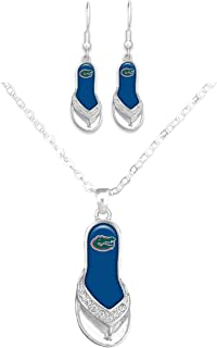 Florida Gators Logo Flip Flop Jewelry Combo Set (Necklace and Earrings)