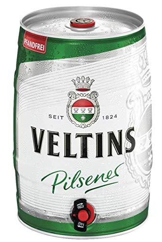Birra VELTINS PILSENER - Fusto da 5 Litri con erogatore - Birra TEDESCA a Bassa Fermentazione