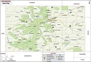 Colorado State Map - Laminated (36