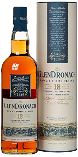 Glendronach 18 Years Old Tawny Port Finish mit Geschenkverpackung  Whisky (1 x 0.7 l)