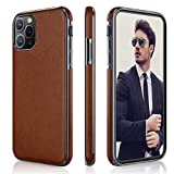 LOHASIC for iPhone 11 Pro Case, Slim Business PU Leather Elegant TPU Bumper Soft Anti-Slip Anti-Scratch Protective Phone Cover Cases Compatible with iPhone 11 Pro(2019) 5.8'- Brown