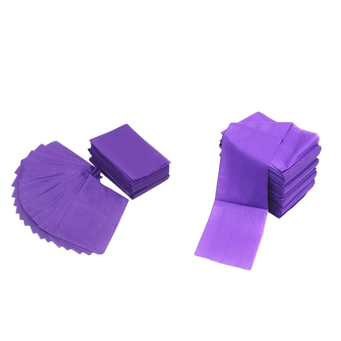 浸透するエンジニアリング法律によりsharprepublic 20ピース不織布使い捨てマッサージテーブルシーツベッドカバー防水パープル