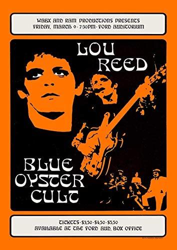 Kribee Póster Lou Reed Vintage Rare Band Rock Carteles de concierto T