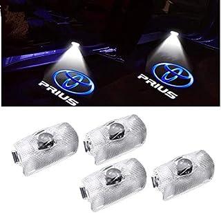 XJH 4PCS プリウス ロゴ投影 カーテシライト ドアウェルカムライト カーテシランプ 30系 50系トヨタ LED車用カーテシ ドアランプ 角度調整機能付き 4個セット for Toyota prius B