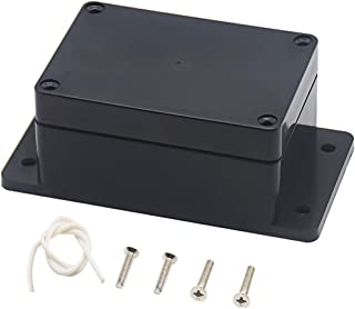 Zulkit Junction Box ABS Plastic Dustproof Waterproof IP65 Universal Electrical Boxes Project Enclosure with Fixed Ear Black 3.9 x 2.68 x 1.97 inch (100 x 68 x 50 mm)