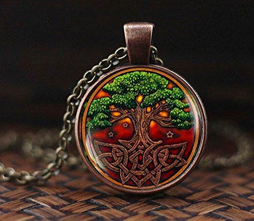 Celtic Tree of life Necklace, Celtic knot Necklace, Celtic Tree Necklace, Irish Jewelry Pendant, Scandinavian Celtic Pendan, men's necklacet