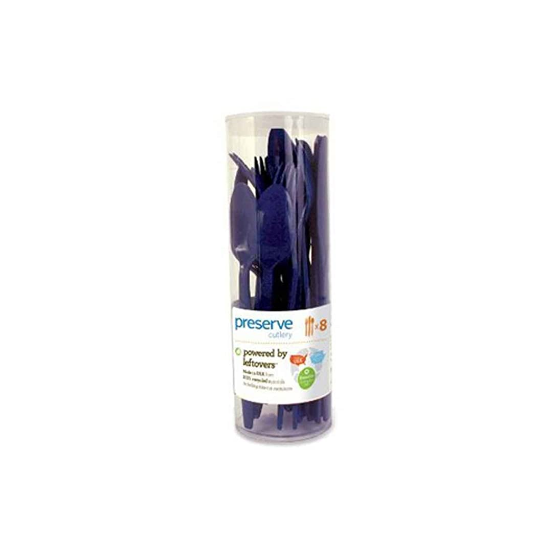 恋人者無謀Preserve Cutlery (8 Set) - Midnight Blue 24 Pack(S) by Preserve