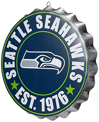 Seattle Seahawks NFL Bottle Cap Wall Sign