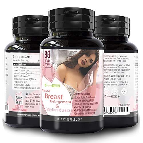 Pueraria Mirifica Capsules Breast Growth Pills - Natural Breast Enhancement Pills for Women , 90 Veg Breast Enlargement Pills – , Breast Lift , Menopause Relief , Vaginal Health , Boosts Hair Growth
