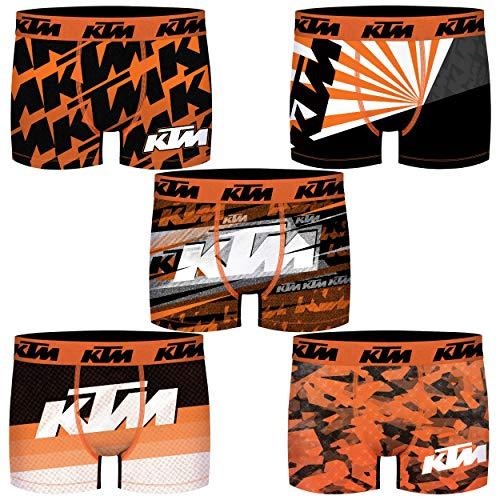 KTM PK1582-X Boxers, Pack 5pcs PK1582, XL para Hombre
