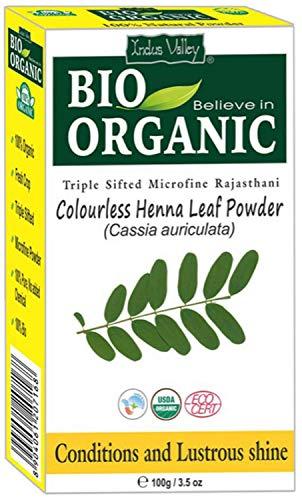 Polvo de henna neutro incoloro BIO orgánico (Cassia Auriculata) con libro de recetas de color (100 g)