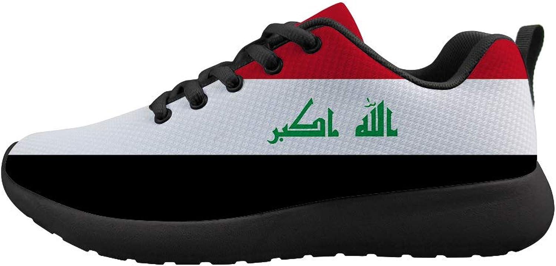 Owaheson Cushioning Sneaker Trail Running shoes Mens Womens Iraq Flag