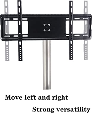 Electronics Mounts Floor TV Stand Mount Universal TV Stand with Round Stainless Steel Base Swivel TV Stand Base Height Adjust