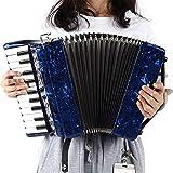 Piano Acordeón Instrumento De Acordeón De 8 Bajos Y 22 Teclas,...