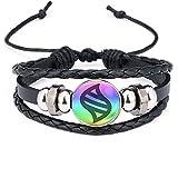 Game Ball Mega Stone Chain Black Bracelet Game Fashion Charm Glass Cabochon Round Toy Pendant