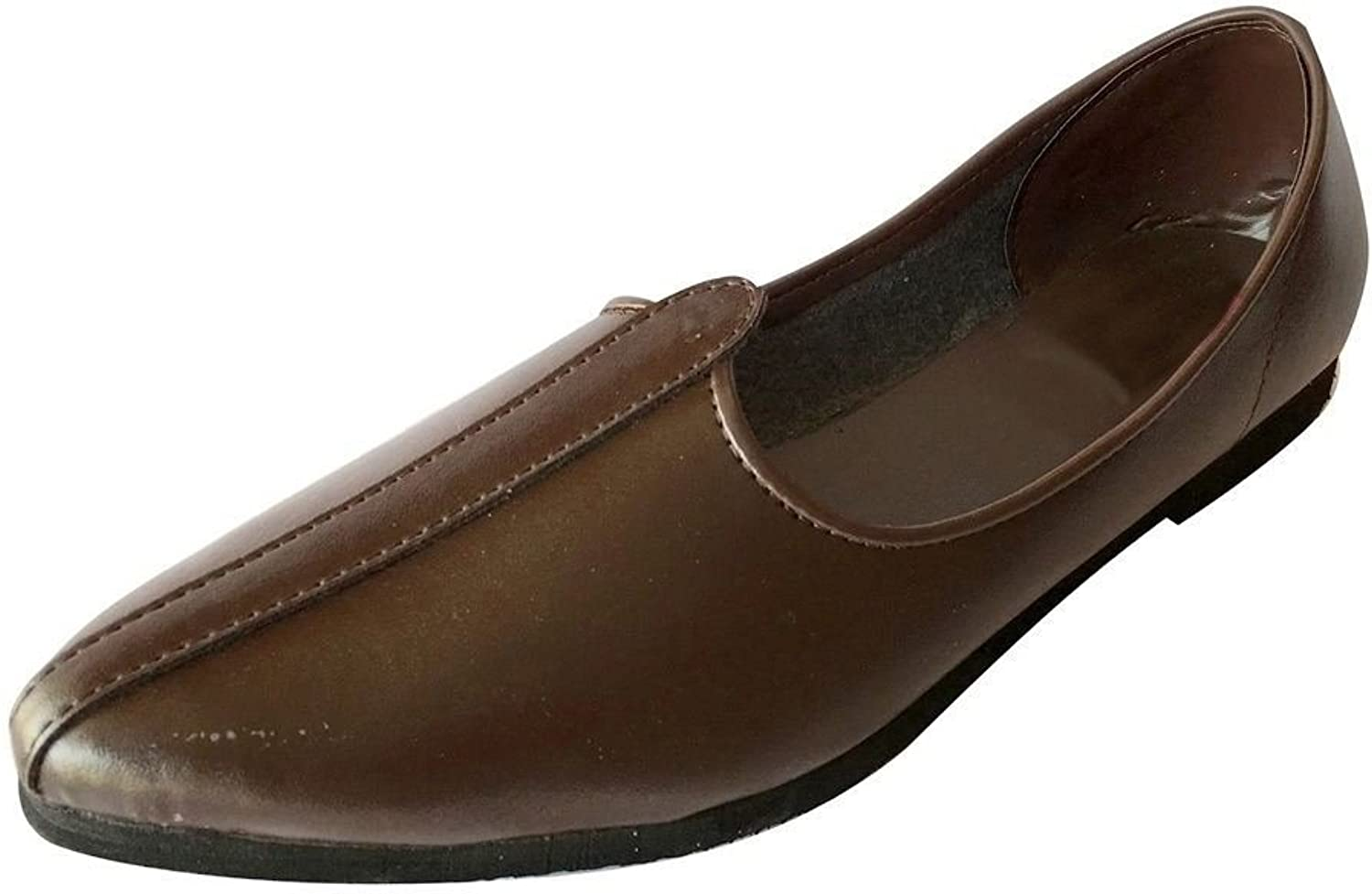 Step n Style Mens Brown Jalsa shoes Indian shoes Jutti Nagra shoes Casual shoes