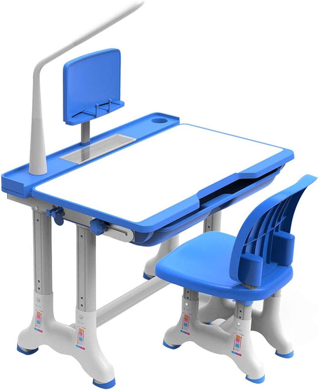 Der Schülertischausgangsschülerschreibtisch der Kinder einfacher Aufzugstabellen- und Stuhlkombinationsjungen- und -mdchensitzsatz passend für 3-18 Jahre alt