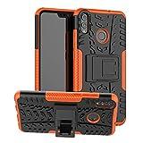 Labanema Honor 8X Funda, [Heavy Duty] [Doble Capa] [Protección Pesada] Híbrida Resistente Funda Protectora y Robusta para Huawei Honor 8X /Honor View 10 Lite (con 4 en 1 Regalo empaquetado) - Naranja